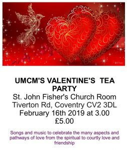 Poster for Valentine's Tea Party